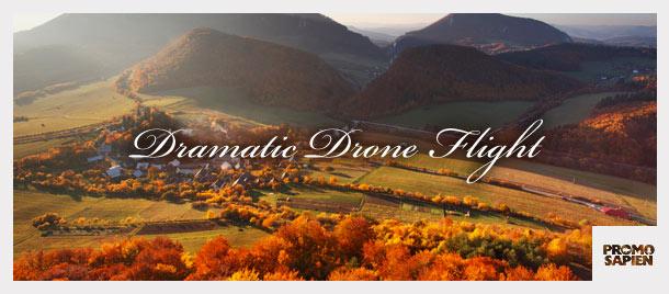 Dramatic Drone Flight
